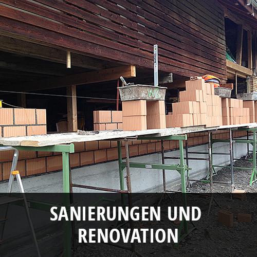 Sanierungen und Renovationen